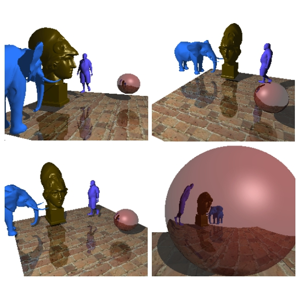 Raytracing render на C