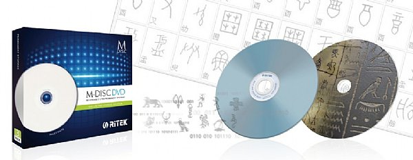 Емкость диска Ritek M-Disk DVD равна 4,7 ГБ