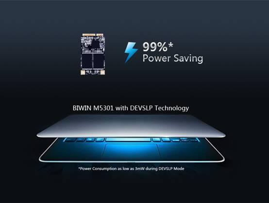 Для SSD Biwin M5301 конструкторы выбрали типоразмер mSATA