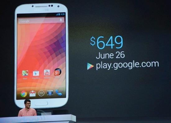 Samsung Galaxy S4 можно будет купить в Google Play