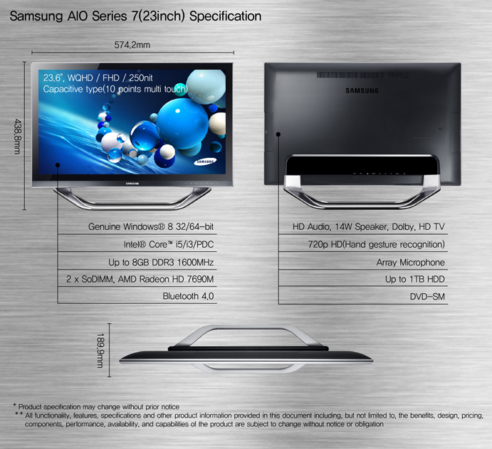 Samsung анонсировала новую линейку ПК на базе Windows 8