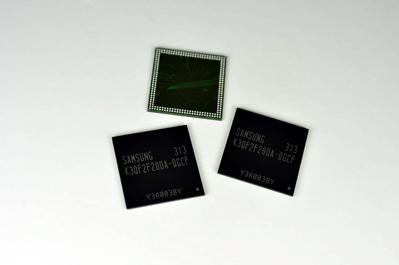 Компонуя новые чипы Samsung по четыре в одном корпусе, можно получить микросхемы объемом 2 ГБ