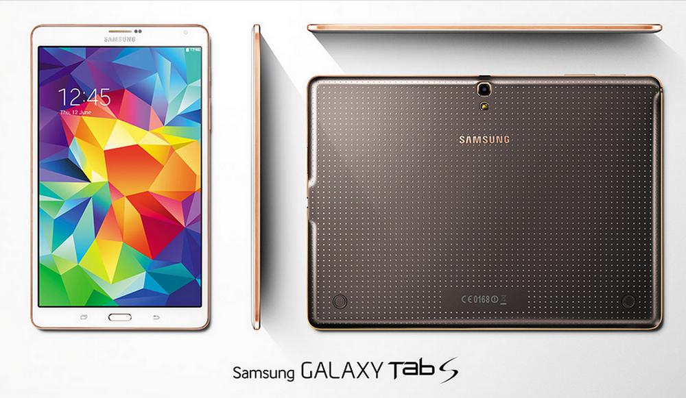 Samsung представила новые планшеты GALAXY Tab S с экраном Super AMOLED