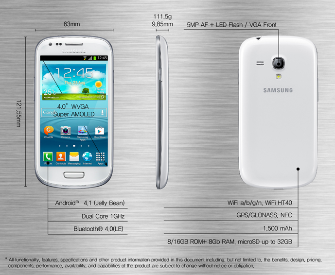 Samsung представила в Германии GALAXY S III Mini