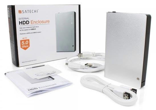 Satechi выпускает алюминиевый корпус для внешнего накопителя с интерфейсами USB 3.0 и eSATA