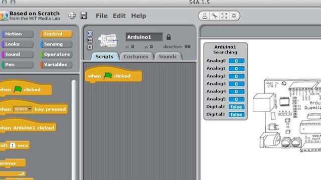 Scratch for Arduino делает программирование под Arduino более наглядным