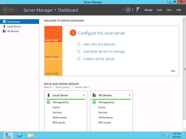 Server Manager в Windows Server 2012: что нового?