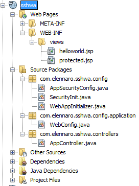 Spring Security Hello World Java Config