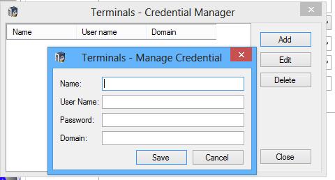 Terminals — RDP клиент с менеджером соединений и табами