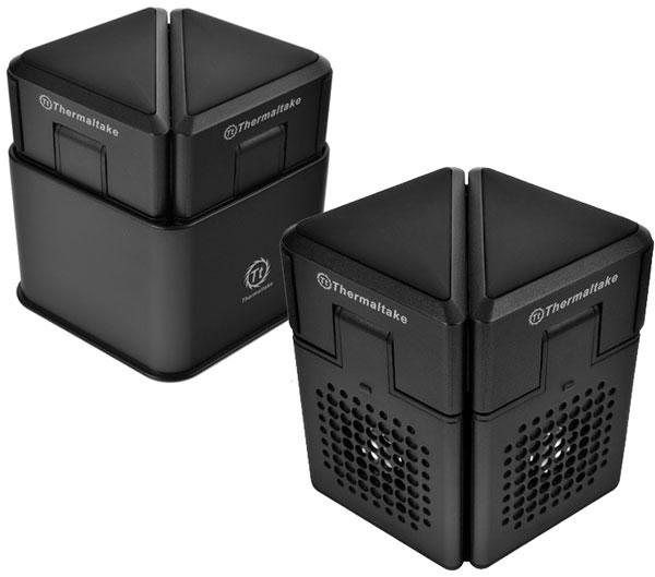 Подложив Thermaltake CL-N006-PL05BL-A под ноутбук, можно придать ему положение, более удобное для пользователя