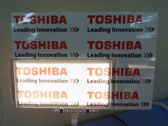 Toshiba создала Transmissive Single-sided Light Emission OLED Panel