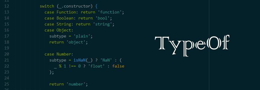 TypeOf javascript library