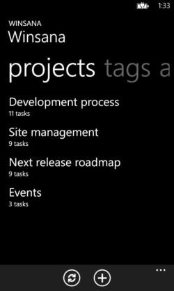 Winsana – клиент для сервиса управления задачами Asana на вашем Windows Phone