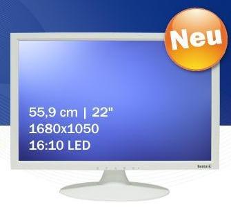 Wortmann оценивает белый 22-дюймовый офисный монитор 2230W в 199 евро