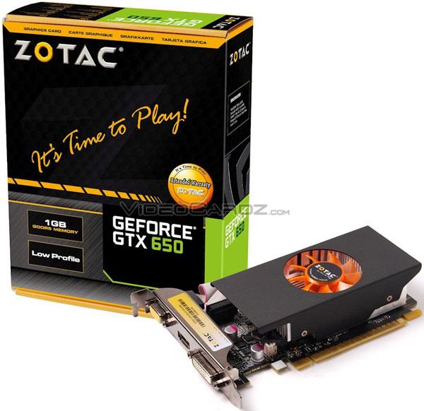 ZOTAC готовит к выпуску низкопрофильный вариант 3D-карты GeForce GTX 650