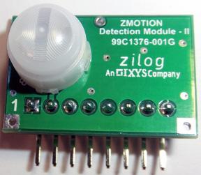 Использование готового модуля обнаружения движения Zilog Zmotion Detection Module II сокращает время разработки электронных устройств