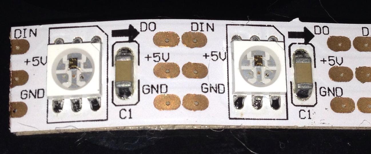 Аналог ambilight из LED ленты WS2812, arduino и киндер сюрприза