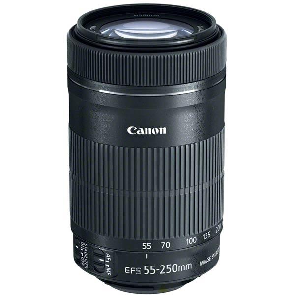 Объектив Canon EF-S 55-250mm f/4-5.6 IS STM оснащен шаговым приводом фокусировки