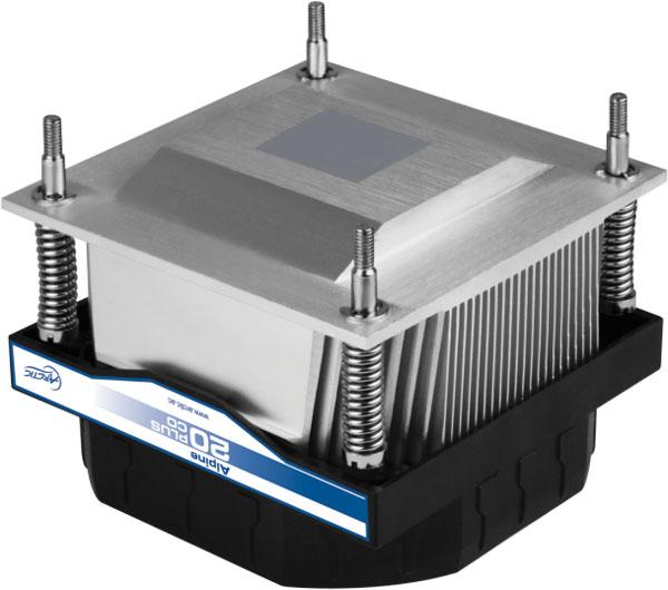 Охладитель Arctic Alpine 20 Plus CO рассчитан на процессоры Intel в исполнении LGA2011