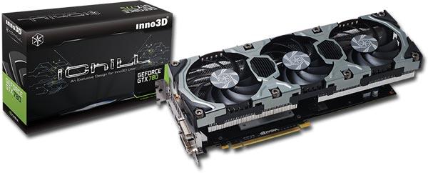 Ассортимент Inno3D пополнили разогнанные 3D-карты iChill Black GTX 780 Accelero Hybrid и iChill GTX 780 HerculeZ X3 Ultra