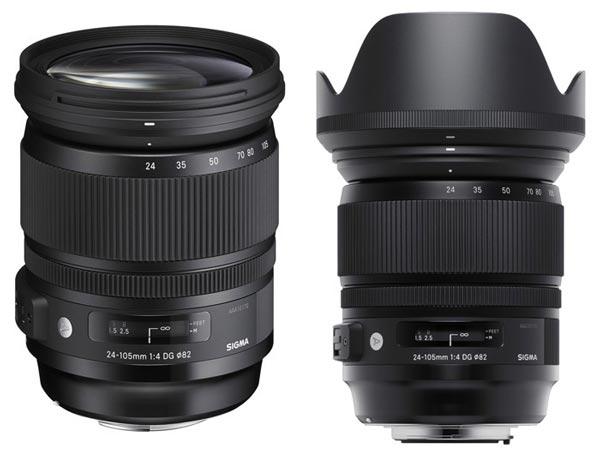 Объектив Sigma Art 24-105mm F4 DG OS HSM выпускается в вариантах для камер Canon, Nikon, Sigma и Sony