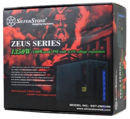 Ассортимент SilverStone пополнился блоком питания Zeus ZM1350 мощностью 1350 Вт