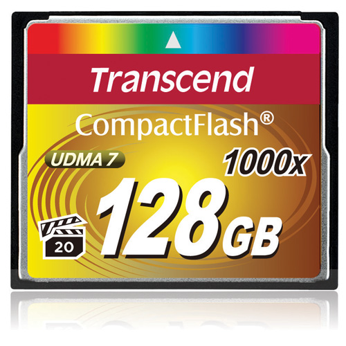 Ассортимент Transcend пополнили карты памяти 1000x CompactFlash