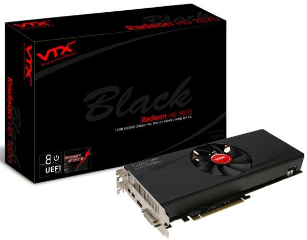 Ассортимент VTX3D пополнила 3D-карта HD7870 Black Edition