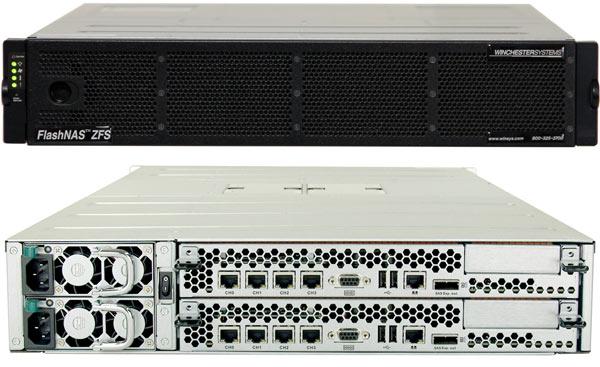 Winchester Systems FlashNAS ZFS ZX-2U12 поддерживает накопители объемом до 6 ТБ