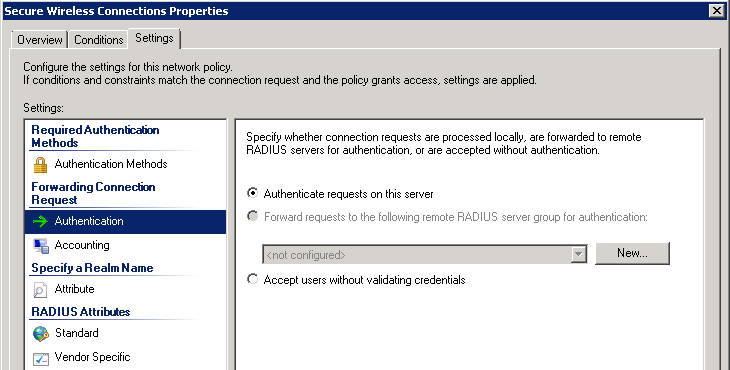 Аутентификация беспроводных клиентов по учетным записям Active Directory