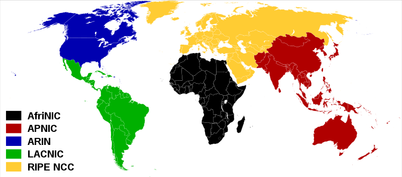 Бан по континентам