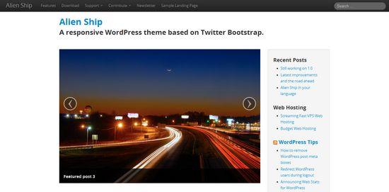 Базовые темы популярных CMS на Twitter Bootstrap