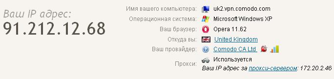 Бесплатный VPN от Comodo