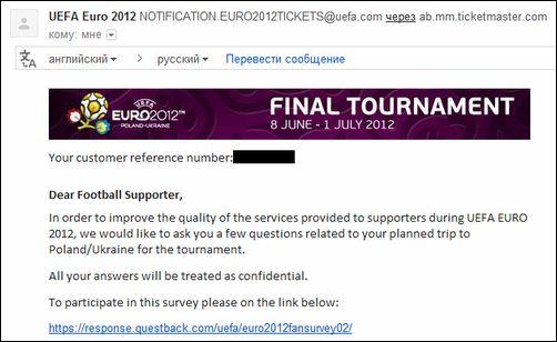 Бессмысленный опрос для посетителей ЕВРО 2012