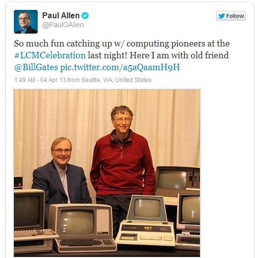 Билл Гейтс и Пол Аллен: 1981 год и сегодня