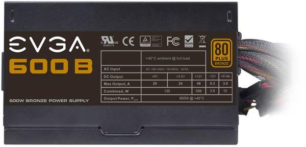 Блок питания Evga 600B полностью совместим с процессорами Intel Core четвертого поколения (Haswell)