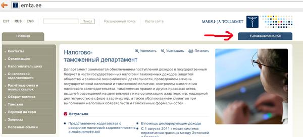 Электронное правительство / Электронная налоговая декларация в Эстонии