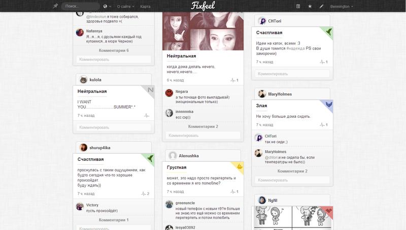Да, да еще одна социальная сеть. Fixfeel — эмоциональная карта мира!