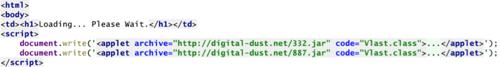 Детектор сайтов, заражающих компьютеры посетителей с помощью вредоносных Java апплетов