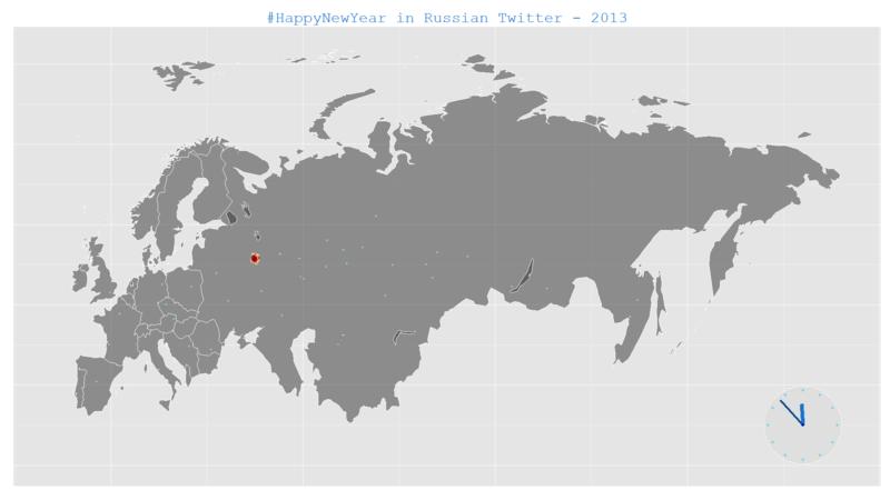 Динамическая визуализация геокодированных данных (Twitter) с помощью R