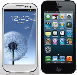 Дисплей Samsung Galaxy S III тоньше дисплея Apple iPhone 5