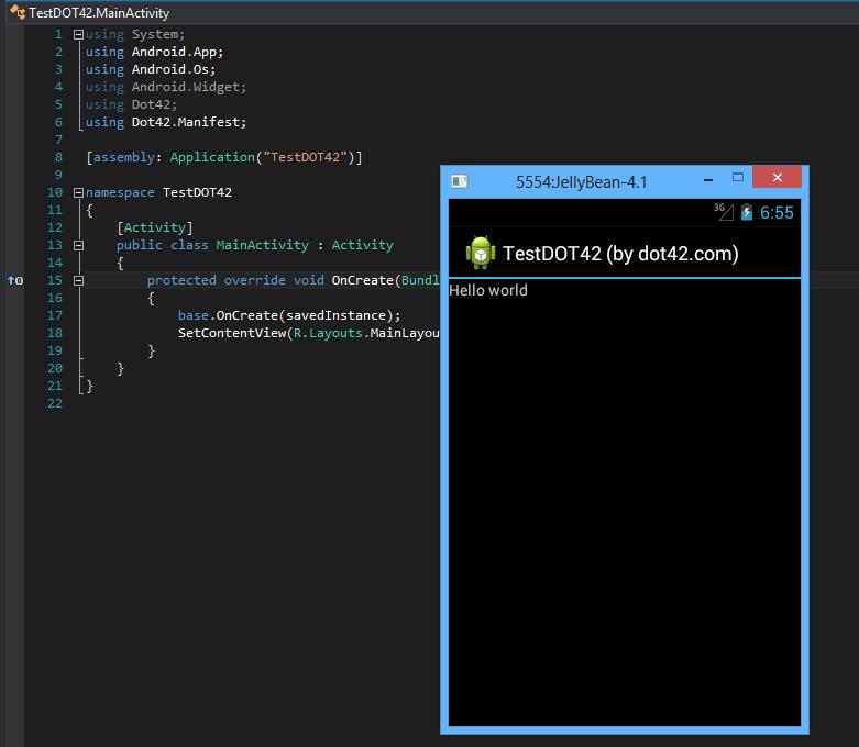 dot42 — компилятор C# для Dalvik Runtime