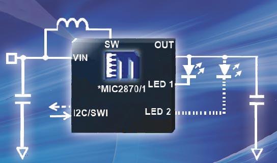 Драйверы светодиодных вспышек Micrel MIC2870 и MIC2871 имеют лучшие в классе КПД и точность