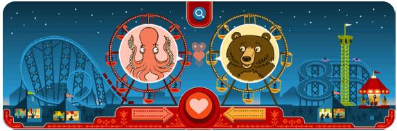 Дудл от Гугл на день всех влюбленных