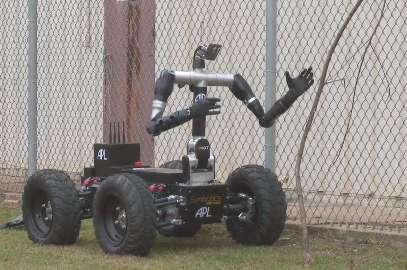 Двурукая подвижная роботизированная платформа