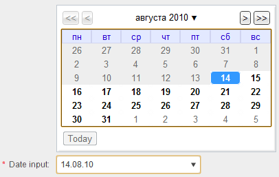 Элемент Date Picker стал доступен в Chrome Canary и Chromium