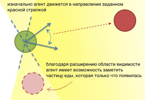 Эволюция агентов управляемых нейронной сетью