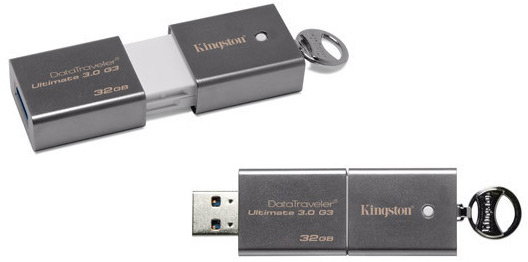 Флэш-накопители Kingston DataTraveler Ultimate 3.0 G3 доступны объемом 32 и 64 ГБ
