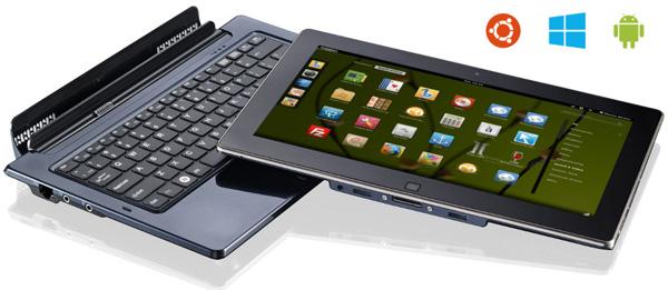 Ноутбук-планшет Python S3 может работать под управлением Ubuntu, Android или Windows 8
