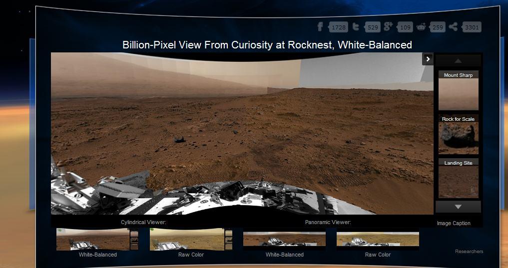 Гигапиксельная панорама Марса от Curiosity